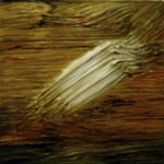 """Boudin (Eugene Boudin, """"Wedkarze na brzegu morza"""", 1891), oil on canvas, 30 x 30 cm, 2017"""