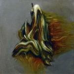 """Gierowski (Stefan Gierowski, """"Obraz XIII"""", 1957), , oil on canvas, 30 x 30 cm, 2017"""