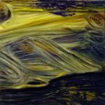 "Monet (Claude Monet, ""Widok Etretat"", ?), , oil on canvas, 30 x 30 cm, 2017"