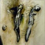 """Tarasin (Jan Tarasin, """"Deszcz"""", 1967), , oil on canvas, 30 x 30 cm, 2017"""