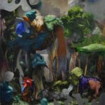 Sabbath, oil nad acryliv on canvas, 190 x 150cm, 2019