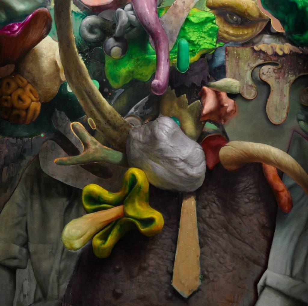 Golem (elegant), acrylic and oil on canvas, 150x150cm, 2020