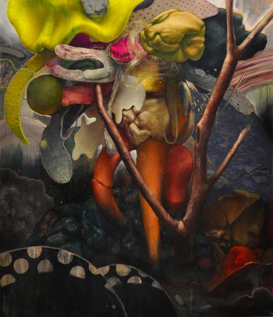 golem, acrylic and oil on canvas, 140x120, 2020
