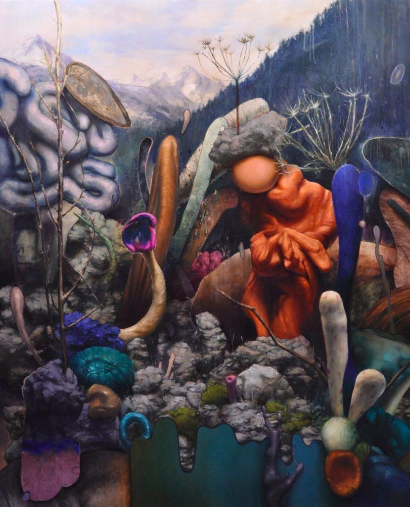 golem, acrylic and oil on canvas, 220x180cm, 2020